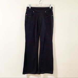 ATHLETA Solid Black Bootcut Pull On Stretch Pants